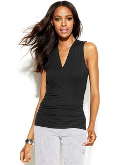 INC International Concepts Sleeveless Ruched Top