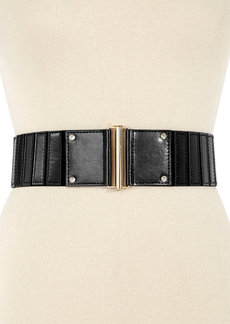 INC International Concepts Smooth Panel Stretch Waist Belt