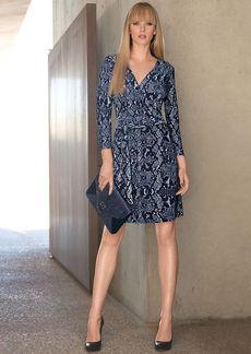 INC International Concepts Snakeskin-Print Faux-Wrap Dress