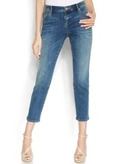 INC International Concepts Straight-Leg Cropped Jeans, Sail Wash