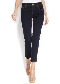 INC International Concepts Straight-Leg Cropped Jeans, Tikglo Wash