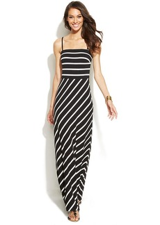INC International Concepts Strapless Striped Maxi Dress