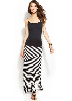 INC International Concepts Striped Convertible Maxi Skirt