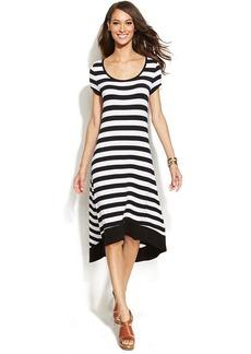 INC International Concepts Striped High-Low Dress