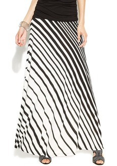 INC International Concepts Petite Striped Maxi Skirt