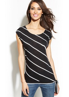 INC International Concepts Striped Side-Tie Tee