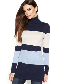 INC International Concepts Striped Turtleneck Sweater