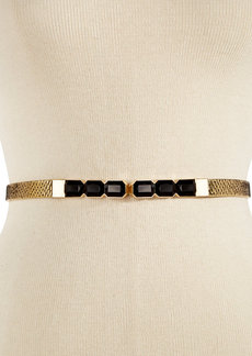 INC International Concepts Thin Snake Stone Stretch Waist Belt
