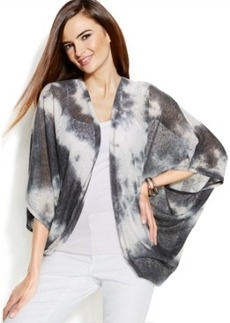 Inc International Concepts Plus Size Tie-Dye Kimono Cardigan