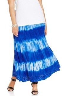 Inc International Concepts Tie-Dye Striped Maxi Skirt