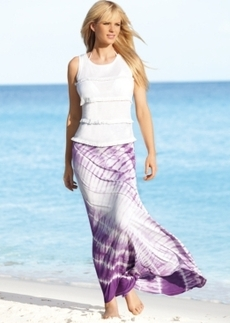 INC International Concepts Tie-Dyed Maxi Skirt