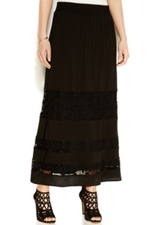 INC International Concepts Tiered Lace-Trim Maxi Skirt