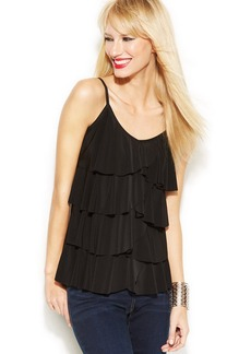 INC International Concepts Tiered Ruffled Tank Top