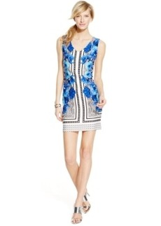 INC International Concepts Petite Mixed-Print Mini Sheath Dress