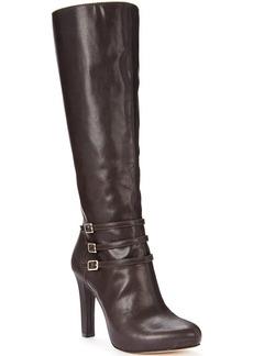 INC International Concepts Women's Brookey Platform Wide Calf Dress Boots