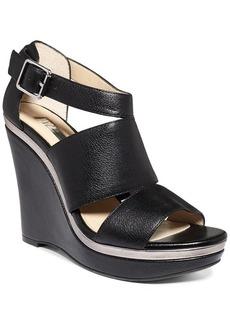 INC International Concepts Women's Camie Platform Wedge Sandals