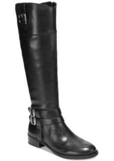 Inc International Concepts Fahnee Leather Wide Calf Riding Boots Women's Shoes