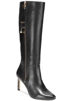 INC International Concepts Women's Libbi Mid-Heel Wide Calf Dress Boots