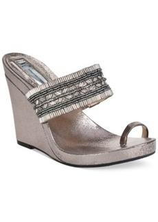 INC International Concepts Women's Limon Platform Wedge Sandals Women's Shoes
