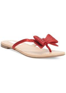 INC International Concepts Women's Maey Bow Thong Sandals