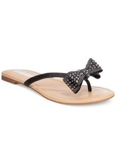 Inc International Concepts Malissa Rhinestone Bow Flat Sandals Women's Shoes