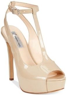 INC International Concepts Women's Maree T-Strap Platform Pumps Women's Shoes