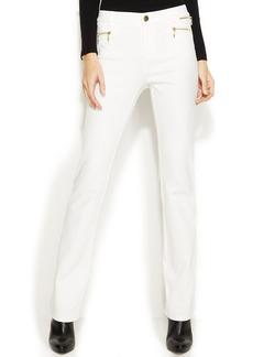 INC International Concepts Zipper-Pocket Bootcut Pants