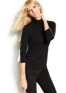 INC International Concepts Zippered Turtleneck Sweater