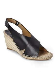 isaac mizrahi Black Iriss Espadrille Wedges