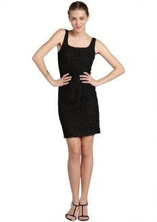 Isaac Mizrahi black stretch lace sleeveless dress