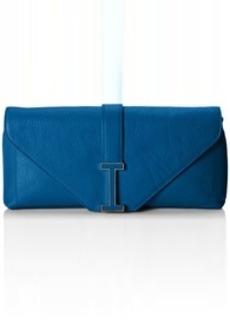 Isaac Mizrahi Ingrid Leather Clutch Shoulder Bag