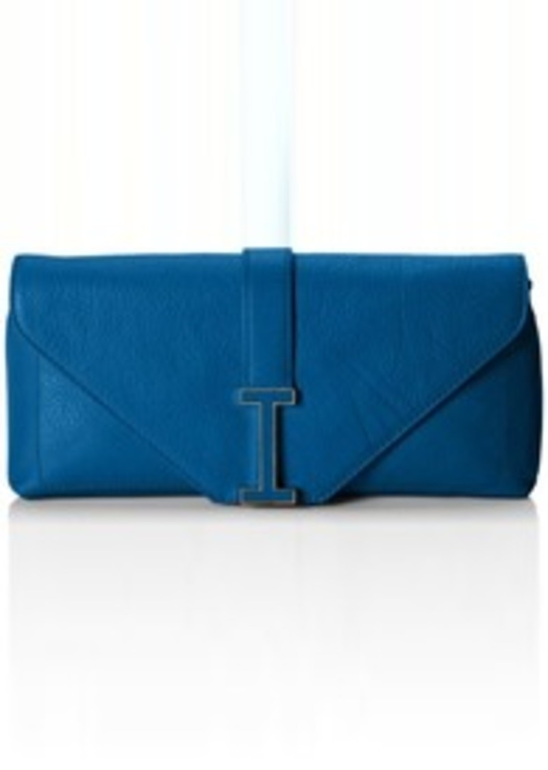 Isaac Mizrahi Ingrid Leather Clutch Shoulder Bag