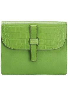 Isaac Mizrahi Leather Cecelia Clutch