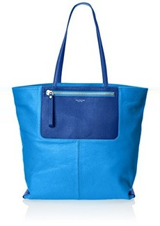 Isaac Mizrahi Lillie Tote,Cerulean Blue Limo Pebble/Sapphire Ballerina,One Size