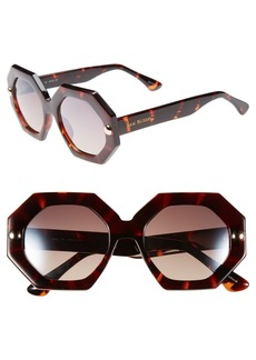 Isaac Mizrahi New York 49mm Sunglasses