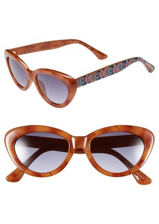 Isaac Mizrahi New York 50mm Cat Eye Sunglasses