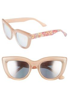 Isaac Mizrahi New York 50mm Cat Eye Sunglasses