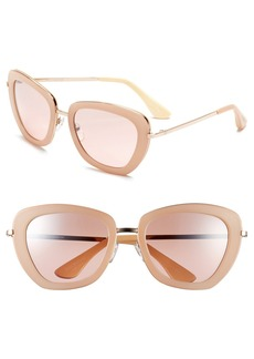 Isaac Mizrahi New York 53mm Geometric Sunglasses
