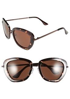 Isaac Mizrahi New York 53mm Retro Sunglasses