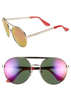 Isaac Mizrahi New York 56mm Round Sunglasses
