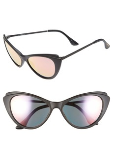 Isaac Mizrahi New York 57mm Cat Eye Sunglasses
