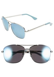 Isaac Mizrahi New York 58mm Aviator Sunglasses