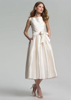 Isaac Mizrahi New York Faille Satin Fit & Flare Dress