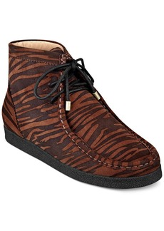 Isaac Mizrahi New York Leopard Chukka Booties