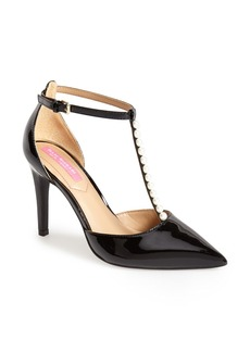Isaac Mizrahi New York 'Luna' Patent Leather T-Strap Pump (Women)