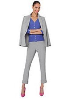 ISAAC MIZRAHI NEW YORK Side-Zipper Ankle-Length Pants