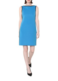 ISAAC MIZRAHI NEW YORK Sleeveless Dress with Contrast Trim