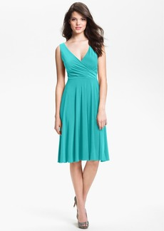 Isaac Mizrahi New York Surplice Jersey Dress (Regular & Petite)