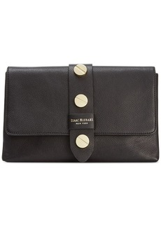 Isaac Mizrahi Pebbled Leather Olivia Clutch
