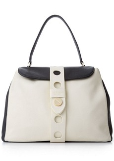 Isaac Mizrahi Pebbled Leather Olivia Satchel